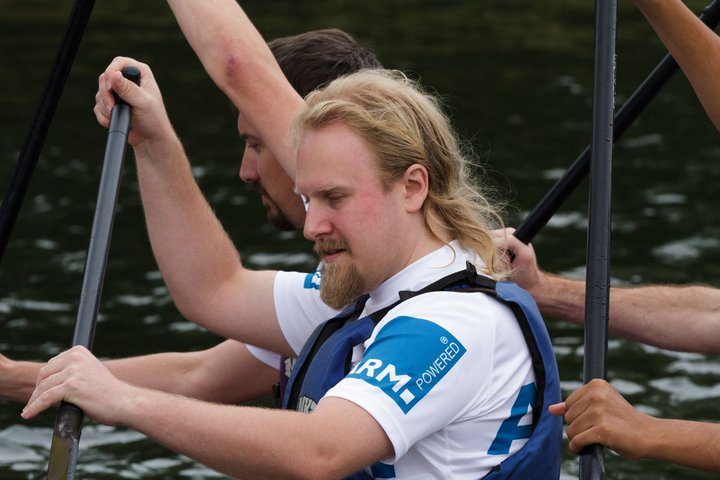 Picture of me in a dragon boat.